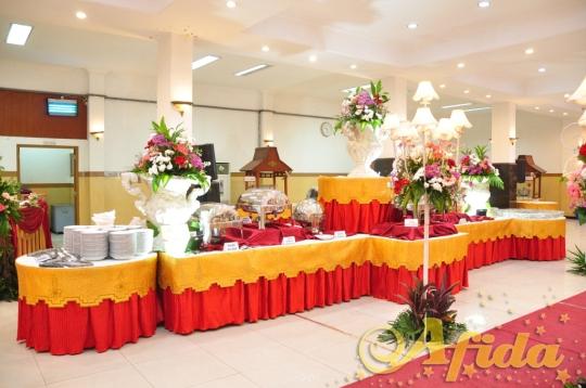 Buffe Panjang Maroon Gold (Aula Muzdalifah Islamic Center Bekasi 16 Juli 2016)