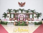 Pelaminan Gebyok Coklat Modifikasi (Balai Prajurit 3 April 2016)