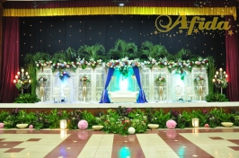 Pelaminan Gebyok Putih Layar Bintang (Balai Komando 24 Juli 2016)